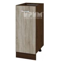 CITY ВС - 40 кухненски долен шкаф плот 35 см с врата и рафт (ляв/десен) без горен плот