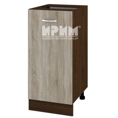 CITY ВС - 21 кухненски долен шкаф 40 см с врата и рафт (ляв/десен) без горен плот