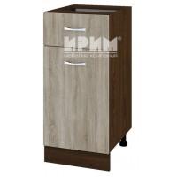 CITY ВС - 24 кухненски долен шкаф 40 см с чекмедже и врата без горен плот