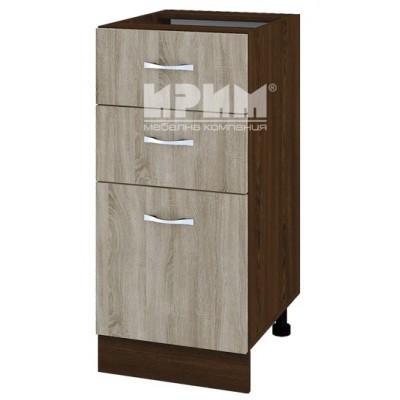 CITY ВС - 27 кухненски долен шкаф 40 см с две чекмеджета и врата (ляв/десен) без горен плот