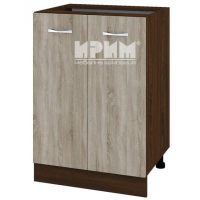 CITY ВС - 22 кухненски долен шкаф 60 см с две врати и рафт без горен плот