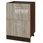 CITY ВС - 44 кухненски долен шкаф 60 см с две чекмеджета без горен плот