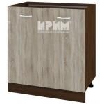 CITY ВС - 23 кухненски долен шкаф 80 см с две врати и рафт без горен плот