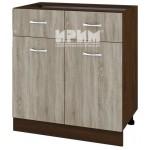 CITY ВС - 26 кухненски долен шкаф 80 см с две чекмеджета и две врати без горен плот