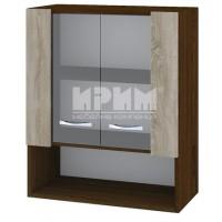 CITY ВС - 9 кухненски горен шкаф 60 см с ниша и две витринни врати с рафт