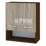 CITY ВС - 7 кухненски горен шкаф 60 см с ниша и две врати и рафт