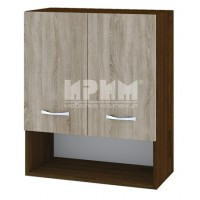 CITY БС - 107 кухненски горен шкаф 60 см с ниша и две врати и рафт