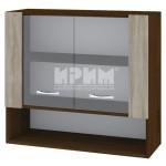 CITY ВС - 10 кухненски горен шкаф 80 см с ниша и две витринни врати