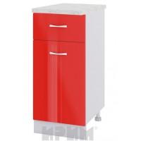 CITY БЧ - 424 кухненски долен шкаф 40 см с чекмедже,врата и рафт (ляв/десен)