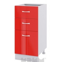 CITY БЧ - 427 кухненски долен шкаф 40 см с една врата и две чекмеджета - без горен плот