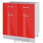 CITY БЧ - 426 кухненски долен шкаф 80 см с две врати и две чекмеджета - без горен плот