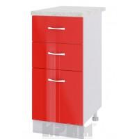 CITY БЧ - 427 кухненски долен шкаф 40 см с две чекмеджета и врата (ляв/десен)