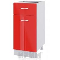 CITY БЧ - 424 кухненски долен шкаф 40 см с една врата и чекмедже - без горен плот