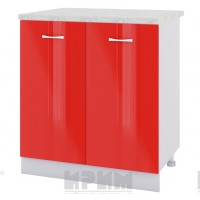 CITY БЧ - 426 кухненски долен шкаф 80 см с две врати,две чекмеджета и рафт