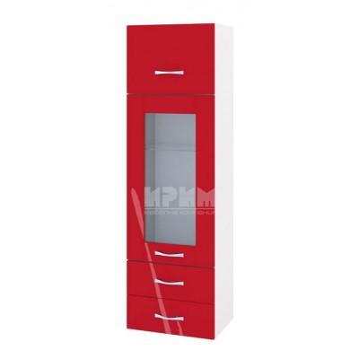 Кухненски шкаф с повдигаща врата, витрина и 2 чекмеджета Сити БЧ - 101