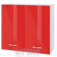 CITY БЧ - 404 кухненски горен шкаф 80 см с две врати и рафт