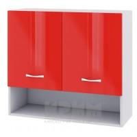 CITY БЧ - 408 кухненски горен шкаф 80см с ниша две врати и рафт