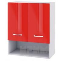 CITY БЧ - 407 кухненски горен шкаф 60см с ниша две врати и рафт
