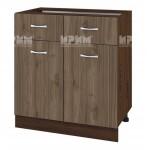 Долен кухненски шкаф 80 см с 2 чекмеджета и 2 врати Сити ВО - 26