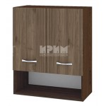 Горен кухненски шкаф 60 см с 2 врати и ниша Сити ВО - 7