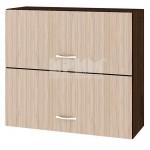 Горен кухненски шкаф с 2 хоризонтални врати 80 см Сити ВА 12