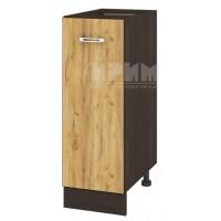 CITY ВД - 120 кухненски долен шкаф 30 см без горен плот с врата и рафт(ляв/десен)
