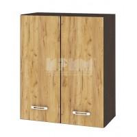 CITY ВД - 103 кухненски горен шкаф 60 см с две врати и рафт