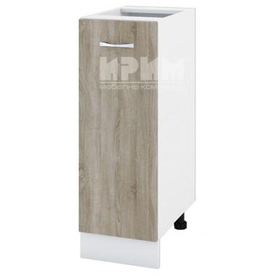 CITY БС - 120 кухненски долен шкаф 30 см с врата и рафт (ляв/десен) без горен плот