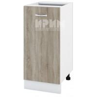 CITY БС - 121 кухненски долен шкаф 40 см с врата и рафт (ляв/десен) без горен плот
