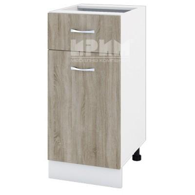 CITY БС - 124 кухненски долен шкаф 40 см с чекмедже и врата без горен плот