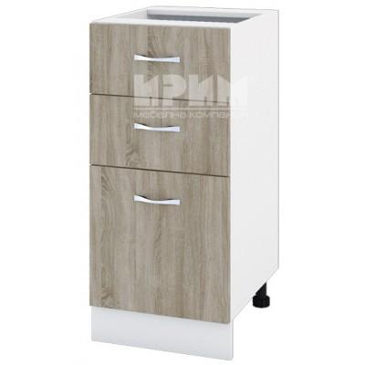 CITY БС - 127 кухненски долен шкаф 40 см с две чекмеджета и врата (ляв/десен) без горен плот