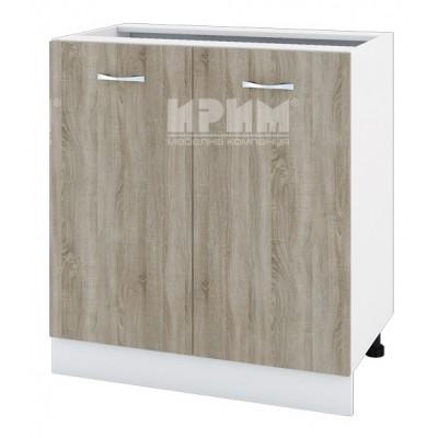 CITY БС - 123 кухненски долен шкаф 80 см с две врати и рафт без горен плот