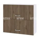 Горен кухненски шкаф 80 см с 2 хоризонтални врати Сити БО - 12