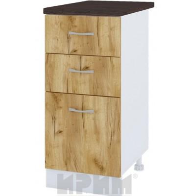 CITY БД - 327 кухненски долен шкаф 40 см с две чекмеджета и врата (ляв/десен)