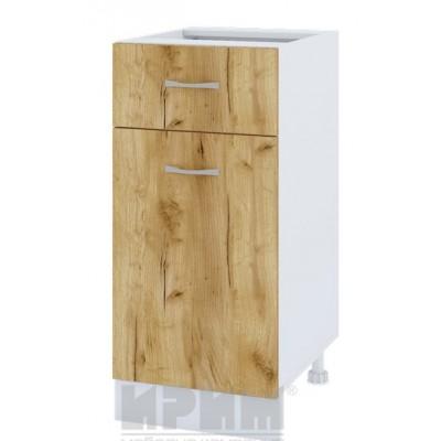 CITY БДД 24 кухненски долен шкаф 40 см с чекмедже, врата и рафт (ляв/десен) - без термо-плот