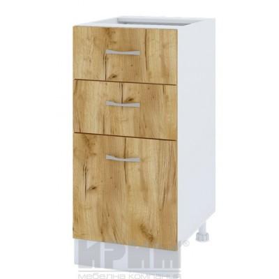 CITY БДД - 27 кухненски долен шкаф 40 см с две чекмеджета и врата (ляв/десен). Без термо-плот
