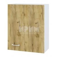 CITY БД - 317 кухненски горен шкаф 80 см за ъгъл с врата и рафт (ляв/десен)