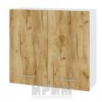 CITY БДД 4 кухненски горен шкаф 80 см с две врати и рафт