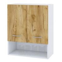 CITY БД - 307 кухненски горен шкаф 60 см с ниша, две врати и рафт