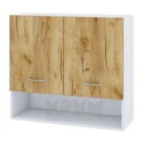 CITY БД - 308 кухненски горен шкаф 80 см с ниша, две врати и рафт