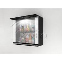 Горен кухненски шкаф с две витрини и осветление Г2