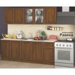 Кухня Равена конфигурация 2м - орех класик/ МДФ профил орех с орнаменти