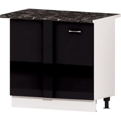 Долен кухненски шкаф за ъгъл 90 см Алис B10 - черно гланц