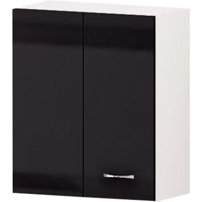 Горен кухненски шкаф за ъгъл Алис G31 60 см - черно гланц