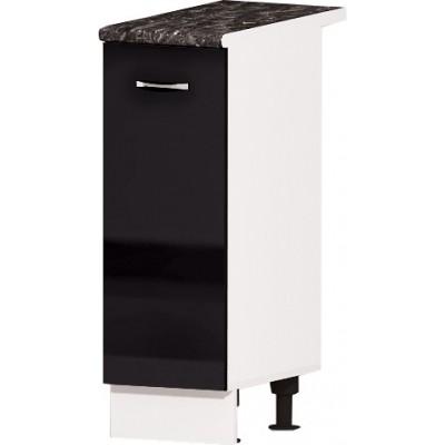 Долен кухненски шкаф с една врата Алис B22 30 см - черно гланц