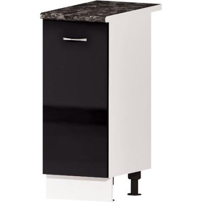 Долен кухненски шкаф с една врата Алис B61 35 см - черно гланц