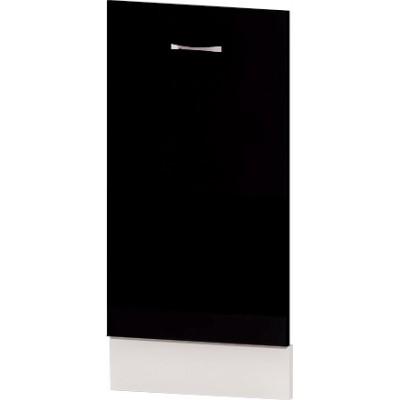 Врата за съдомиялна 45 см с цокъл Алис B64 - черно гланц