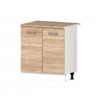 Долен кухненски шкаф 80 см с две врати с термо-устойчив плот АЛИС В2