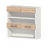 Горен кухненски шкаф 80 см с две витрини АЛИС G58