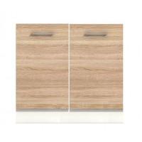 Долен кухненски шкаф 80 см с две врати без термо-устойчив плот АЛИС В2